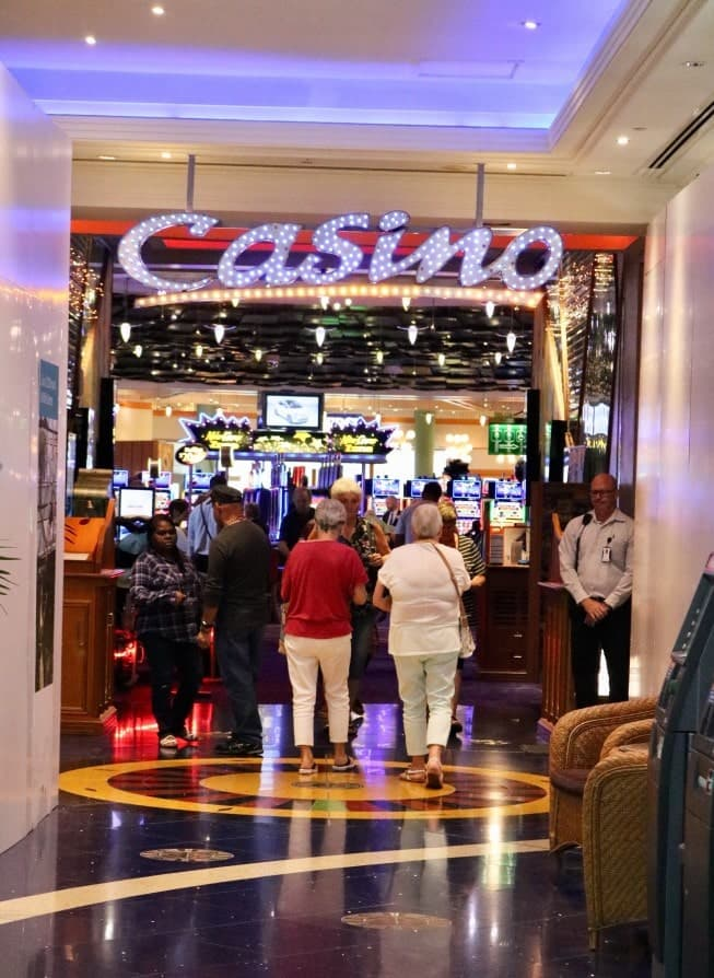 people enter the casino
